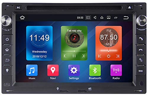 ZHBD Reproductor De Música con Radio FM, Pantalla Táctil De 7In Bluetooth Car DVD Player Stereo, Reproductor De GPS MP3, para Android/iOS 5/6/7 / Tablet /