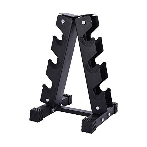 wowspeed Dumbbell Racks, A-Frame Dumbbell Rack, 3 Tier Steel Dumbbell Rack Stand, 550 Pounds, 3 Pairs, Professional Home Fitness Weight Rack, Suitable for Home and Gym Exercise (3 Tier)