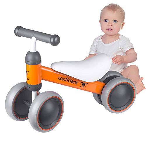 Equilibrio Bicicletta per bambino Biciclette senza pedali, Mini bici Walker Giocattoli di guida sicuri per 12-24 mesi Bambino, 4 ruote Bici per bambini Prima bici per bambini