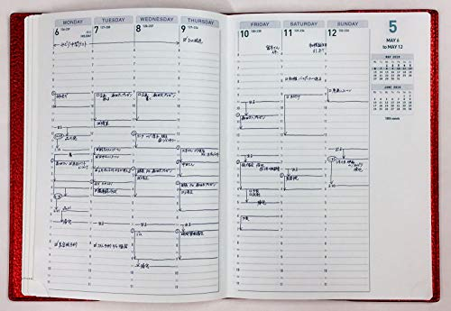 アクションプランナーApril2020手帳(2020年4月始まり)ウィークリーバーチカルA5合皮ローマタイプサマーブルー