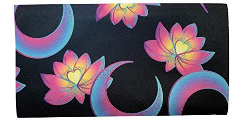 NativOrganics Ögonkudde för yoga och meditation, lotusblomma och måne tema satin ögonväska