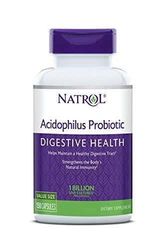 Natrol Acidophilus 100mg Capsules, 150 Count (Pack of 3)