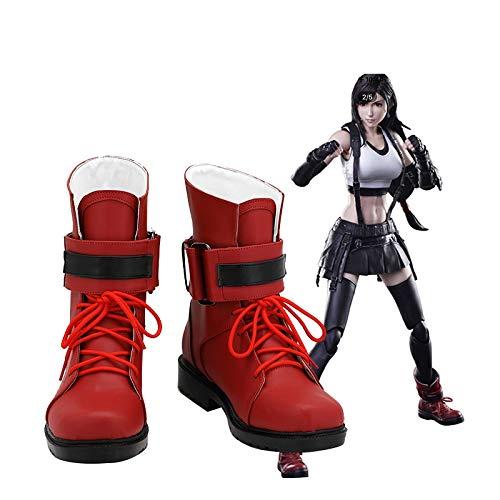 Final Fantasy Cosplay Tifa Lockhart zapatos disfraz Prop botas Halloween carnaval fiesta zapatos por encargo 36 tamao femenino