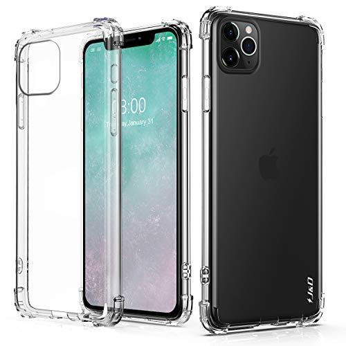 J&D Compatible para Apple iPhone 11 Pro Funda, [Cojín de Esquina] [Ligero] [Ultra-Clear] Protector de Silicona de Choque Delgado y Resistente a Los Golpes Funda - [No Para iPhone 11/iPhone 11 Pro Max]