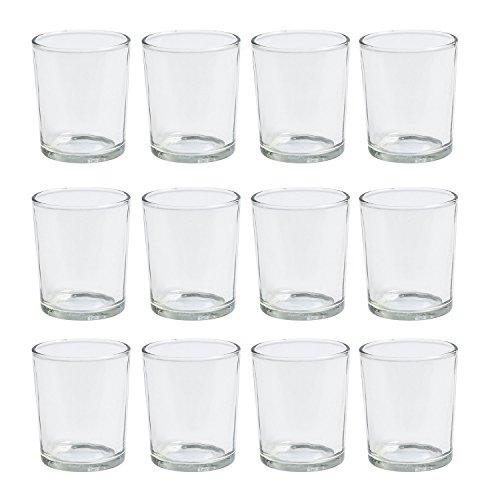JODECO GLASS Teelichtglas hoch Windlicht Dessertglas klein, ca. Ø 5 cm x H 6,5 cm, 12 Stück