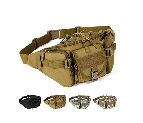 YFNT Táctica Cintura Pack portátil riñonera al Aire Libre Ejército Bolsa de Cintura Militar de frío para Ciclismo Camping Senderismo Caza Pesca, marrón
