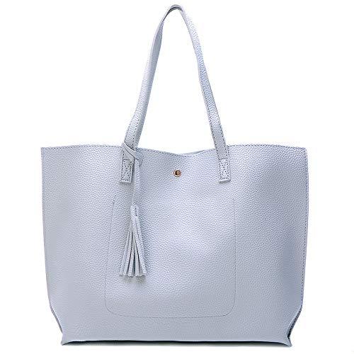Neue einfarbige Quaste Handtaschen Umhängetasche pu große Kapazität Damen Taschen