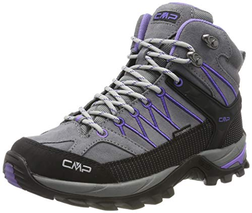 CMP Rigel Mid Wmn Trekking Shoe WP, Scarpe da Arrampicata Alta Donna, Grigio (Grey-Lapis 36ud), 36 EU