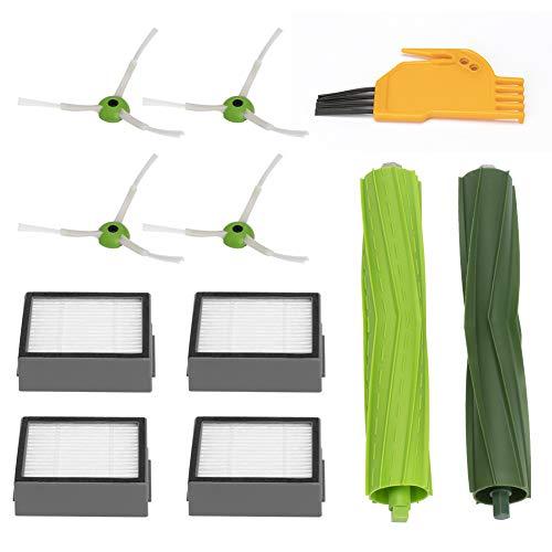 Kit Pièces Accessoires Rechange Pour iRobot Roomba i7 i7Plus e5 e6 e7, Filtres, Brosses Latérales, Brosses en Caoutchouc