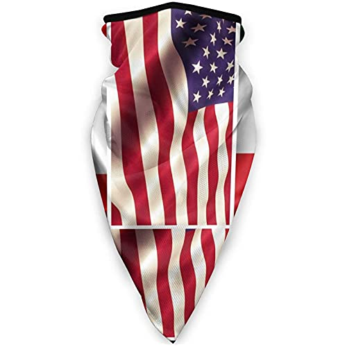 USA Mexiko Kanada Flagge Sport Face Cover Multifunktionstuch Sturmhaube für Erwachsene Manschetten Kopfbedeckung Winddicht Schals und Kopftücher Halstuch Unisex Gesichtsmaske Schwarz