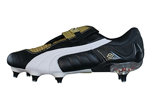 Puma V Konstrukt III SG Mens Leather Football Boots - Cleats-Black / Gold-40