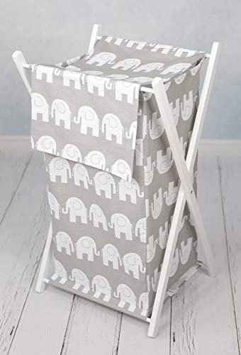 Large Nursery Basket With White Wooden Frame