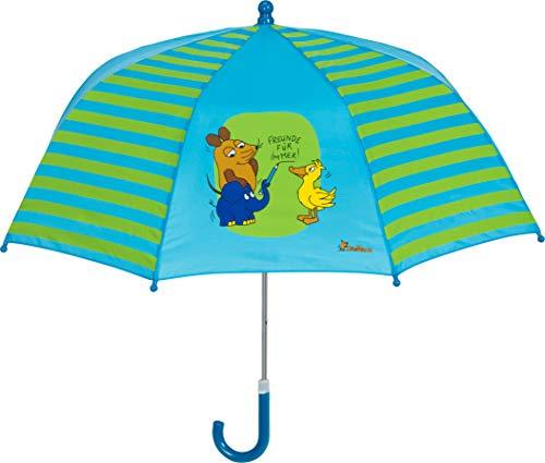 Playshoes DIE MAUS Mädchen Kinder Freunde Für Immer Regenschirm, (Blau 7), One Size