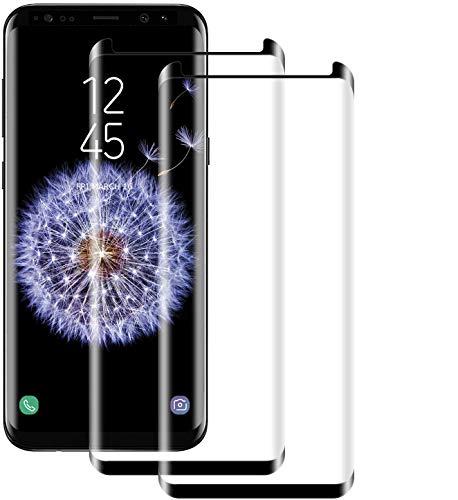 NUOCHENG Protector Pantalla de Samsung Galaxy S9 Plus [2 Pack] [Pegamento en Toda la Pantalla] [9H Dureza] [Alta sensibilidad] [Sin Burbujas] Cristal Vidrio Templado para Galaxy S9 Plus