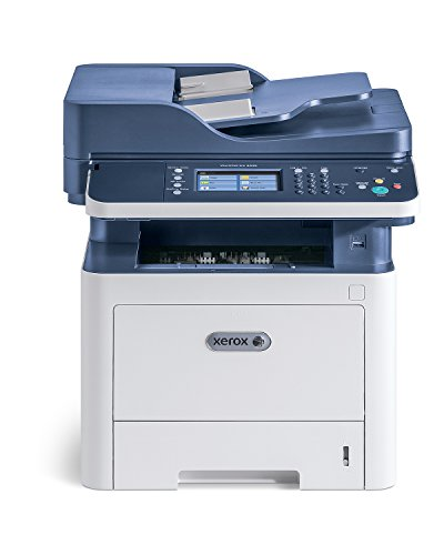 Xerox WorkCentre 3335dni Wireless A4 Mono Multifunction Laser Printer, White/Blue