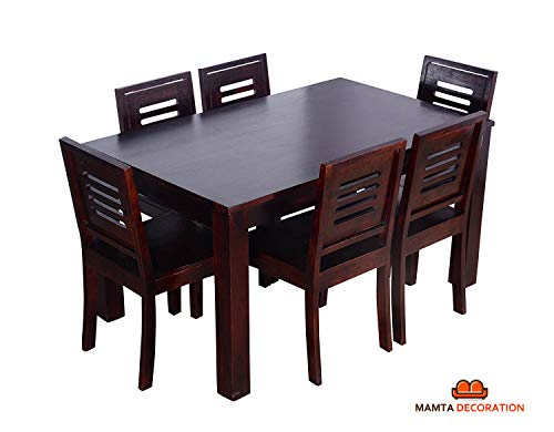 Mamta Decoration Sheesham Wood Wooden Dining Table with 6 C