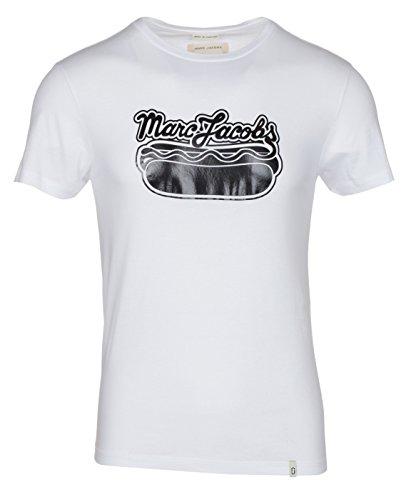 Marc Jacobs Herren T-Shirt mit Rundhalsausschnitt, Weiß - Weiß - XL