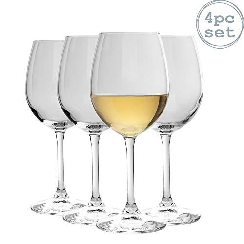 Bormioli Rocco Nadia Cabernet copas de vino Set   Sin plomo de vidrio   370ml (12 1/2 oz) - Paquete de 4