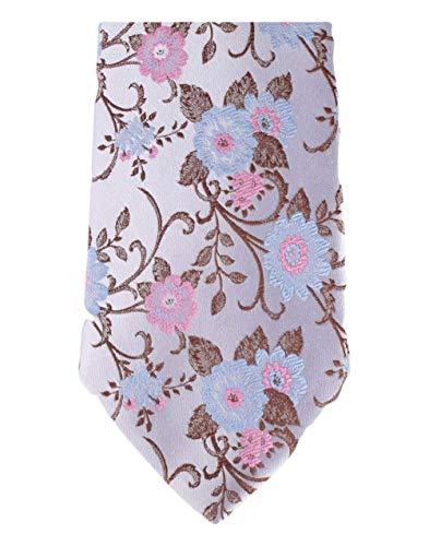 David Van Hagen Cravate lilas pâle Floral de