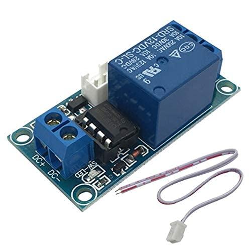 F-Mingnian-rsg Módulo de relé de Enclavamiento de 1 Canal 12V con Control de MCU de Interruptor biestable táctil