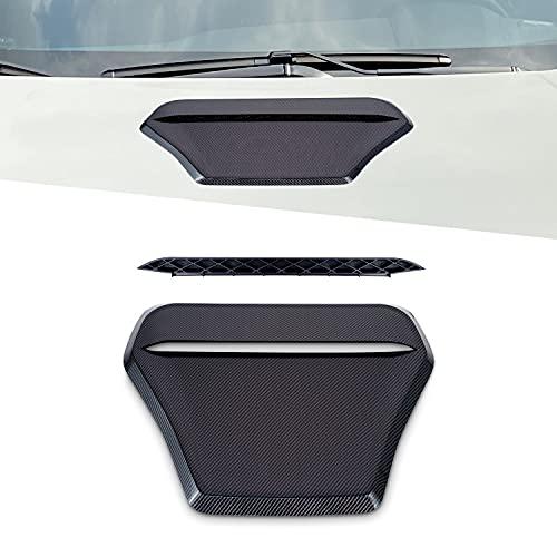 Toma de aire decorativa para el capó del coche compatible con Honda Civic 10th Gen Hatchback 2016-2020, Etiquetas engomadas del coche de entrada de flujo de aire Universal Fit