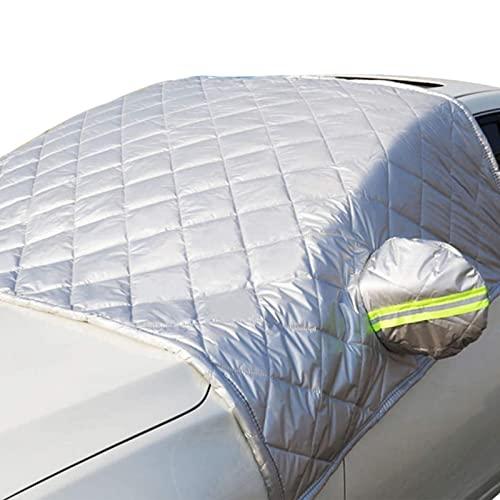 Ulapithi Cubierta para parabrisas plegable y desmontable, lámina protectora para el parabrisas del coche, protección contra el hielo, protección solar, universal