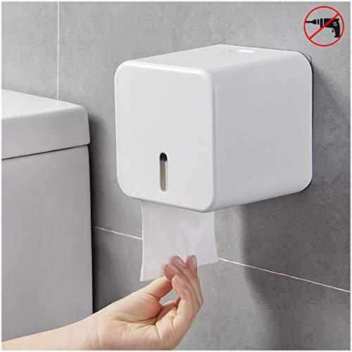COLIST-porta carta igienica,Portarotolo a parete ,Portarotoli e dispenser per rotolo di carta impermeabili / antipolvere - per bagno / toilette (bianco)