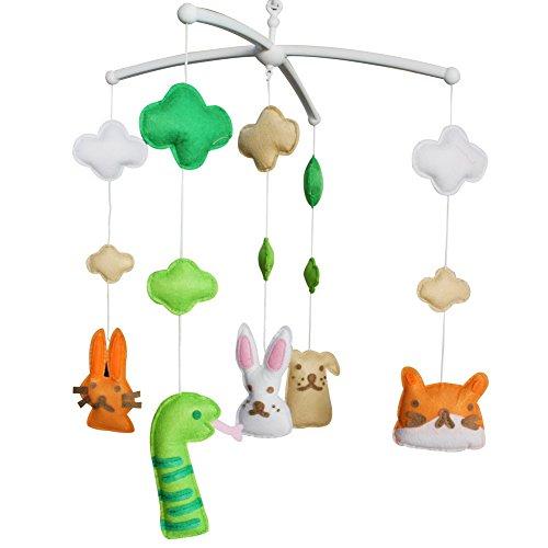 Bébé rêve musical Mobile, [Parti Forêt, Animal Friends] coloré cadeau bébé