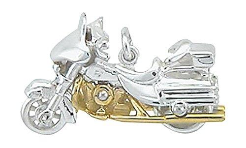 Harley-Davidson ciondolo, in argento Sterling{925} viennagold bicolor