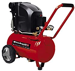 Einhell Compressor TE-AC 270 / 24 / 10 (1.800 W, max 10 bar, incl. Pressure reducer, 24 l-tank, 2 pressure gauge & 2 quick couplings, vibration-damped base, mounting bracket)
