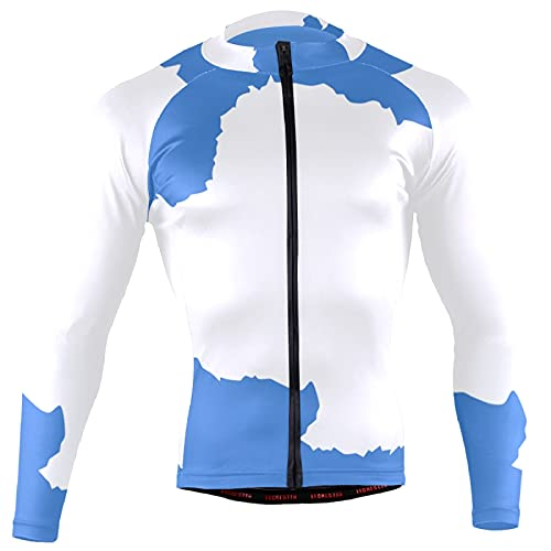 Magnesis Camiseta de manga larga para hombre, diseño de bandera de la Antártida