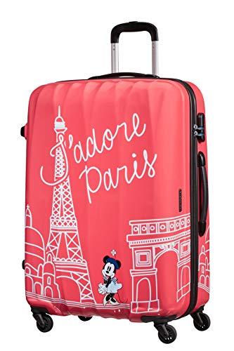 American Tourister Disney Legends - Spinner L - Kindergepäck, 75 cm, 88 L, rosa (Take Me Away Minnie Paris)