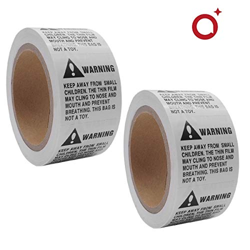 """Suffocation Warning Labels 2"""" x 2"""" Stickers Keep Away from Small Children Peel and Stick for Caution Against Child Suffocation Hazards [500 Labels/Roll 