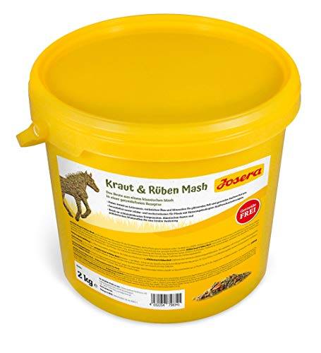 JOSERA Kraut & Rüben Mash Premium Pferdefutter mit getreidefreier Rezeptur hoher Leinsamenanteil stärke- und zuckerreduziert, 2 kg