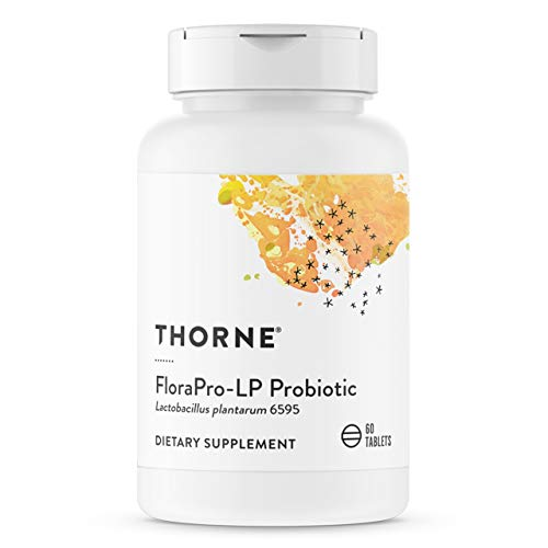 Thorne Research - FloraPro-LP Probiotic - Acid-Resistant L. Plantarum Pearls for Easy Dosing - 60 Pearl Tablets