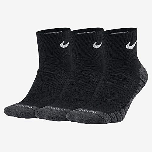 Nike U Nk Evry MAX Cush Ankle 3Pr Socks, Unisex Adulto, Black/Anthracite/(White), L