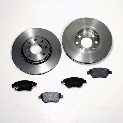 Bremsscheiben/Bremsen + Bremsbeläge + Warnkabel für vorne/für die Vorderachse