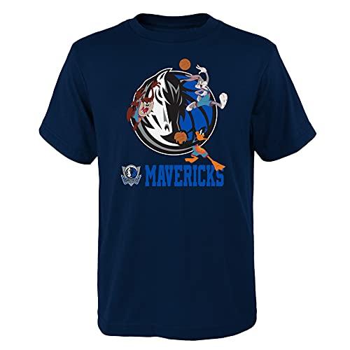 Space Jam 2 A New Legacy Dallas Mavericks Warmin Up Youth NBA Bugs Taz Daffy - Camiseta para niño (talla XL)