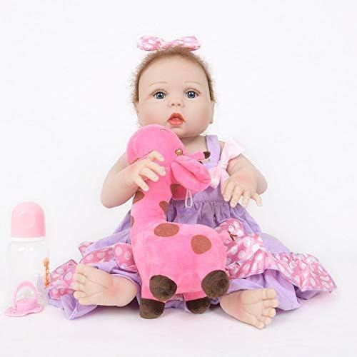 Hongge Lebensechte Reborn Baby Spielzeug Sieht wirklich neugeborenes Baby Kinder Playmates 55cm