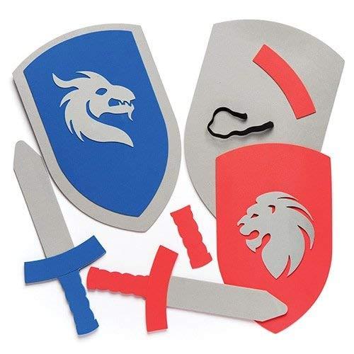 Baker Ross- Kits de Espada y Escudo de Espuma (Pack de 2)...