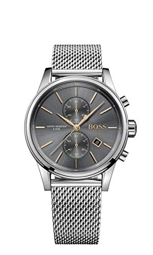 Hugo Boss Herren Chronograph Quarz Uhr mit Edelstahl Armband 1513440