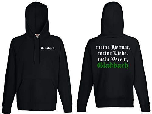 World of Shirt Gladbach Herren Kapuzensweat Ultras Meine Heimat