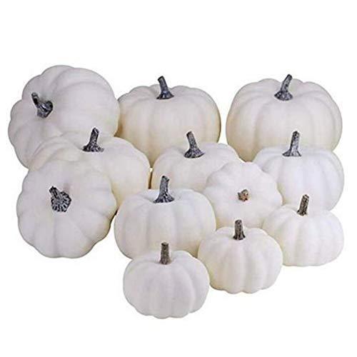Si885monaL Halloween Kunstschaum Mini Kürbisse, Halloween Thanksgiving Herbst Ernte Kürbis Dekorationen Requisiten 12 Stück/Set
