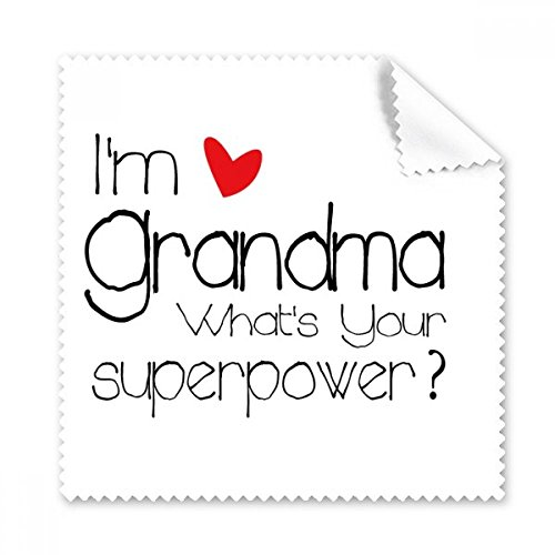 I 'm a Oma What 's Your Superpower Best Granny Gläser Tuch Reinigungstuch Geschenk Handy-Display von 5x