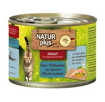 Natur Plus Katzenfutter Hühnchen an feinen Lachscocktail 6x200g