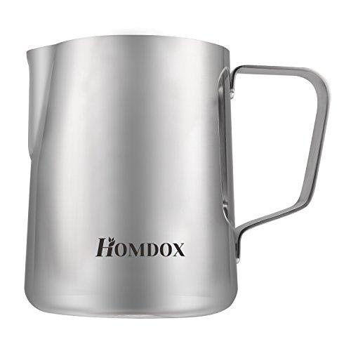 Homdox - Caffettiera per caffè e tè, in vetro resistente al calore, con filtro in acciaio inox, 8 tazze/4 tazze (1 litro, 300 oz)