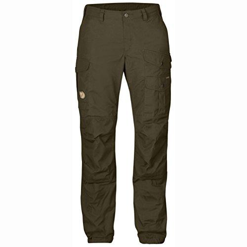 FJÄLLRÄVEN W Vidda Pro Trousers Regular Oliv, Damen G-1000 Hose, Größe 48 - Farbe Dark Olive - Dark Olive