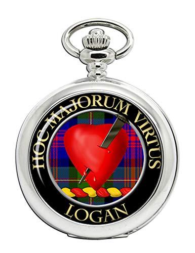 Logan - Reloj de bolsillo con escudo de clan escocés
