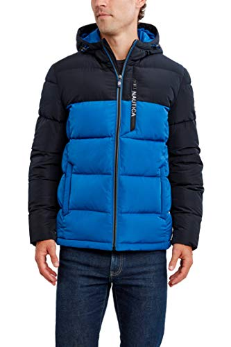 Nautica Men's Water Resistant Hooded Parka Jacket