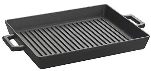 Lava Cookware LV Eco GT 2632T3arrosto/Bistecchiera, Integral Maniglie in Metallo, Dimensioni 26x 32cm, Ghisa, Nero